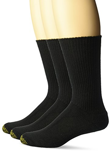 Gold Toe Men's Cushion Foot Fluffies Sock - One Size - Black, 3-Pack by Gold Toe