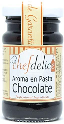 Chefdelice- Chocolade Smaakpasta – Aromatisch Concentraat geeft Chocolade Smaak en Kleur – Ideaal voor Desserts – 50…