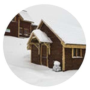 alfombrilla de ratón edificio de madera en las montañas - ronda - 20cm