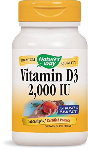 Nature's Way Vitamin D-3 2000 IU, 240 Softgels (Pack of 2)