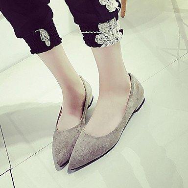 casual las mujeres de otros amarillo azul otros soporte de primavera talón elegante sintética zapatos almendro negro verano soporte de gris y Almond Cómodo oscuro pisos de TwY7q0pn