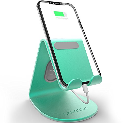 Phone Cell Green Universal (LAMEEKU Universal Cell Phone Stand, Phone Dock, Cradle, Holder Stand Compatible with All iPhone, Android Smartphone- Mint Green)
