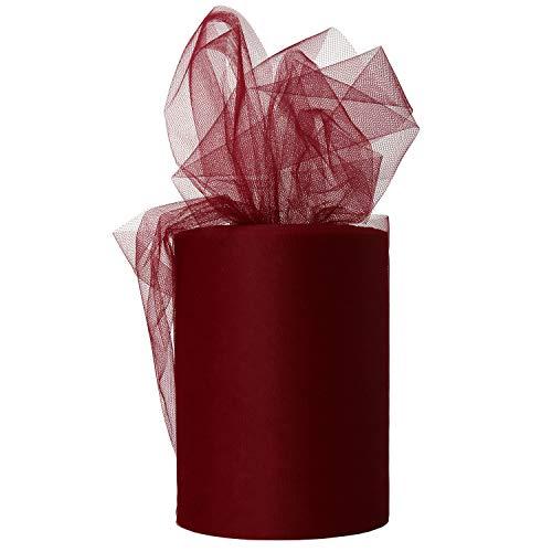 [해외]XiangGuanQianYing Wine Tulle Roll Spool 6 Inch x 100 Yards for Tulle Decoration / XiangGuanQianYing Wine Tulle Roll Spool 6 Inch x 100 Yards for Tulle Decoration