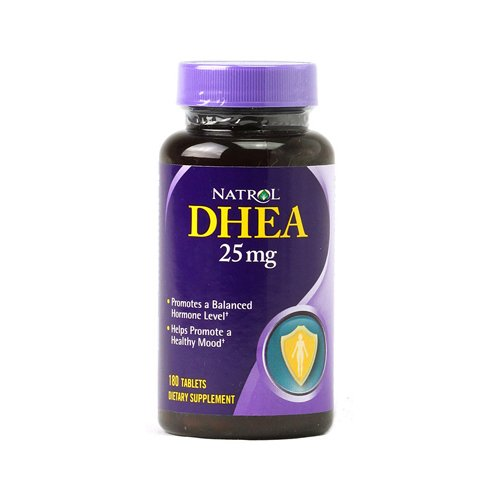 Natrol DHEA 25 mg - 180 Tablets - Promotes a Balanced Hormone Level - 100% Vegetarian - Free Of Yeast, wheat, milk, egg, soy, glutens, artificial colors or flavors, added sugar, starch or preservative by Natrol
