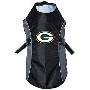 NFL Green Bay Packers Reflective Pet Jacket, Small, Black Or Navy from Hunter Manufacturing