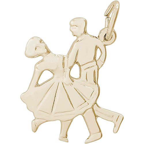 Rembrandt Charms Dancers Charm, Gold Plated (Dancer Charm Gold Plated)