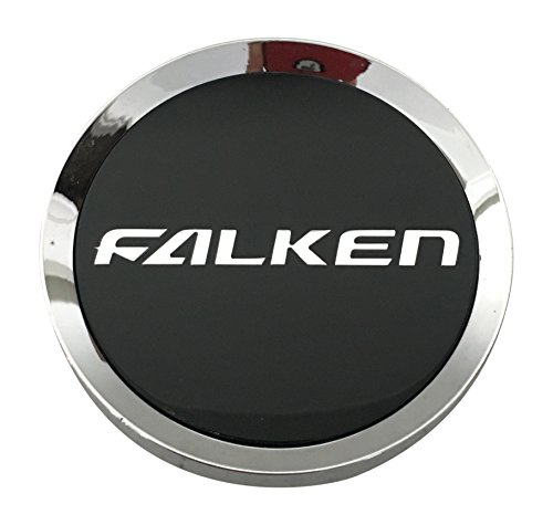 - Falken Wheels P452 MCS65NA06 Chrome and Black Wheel Center Cap
