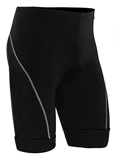 ZITY Biking Shorts for Mens 3D Padded Cycling Shorts Road Bike Black Small