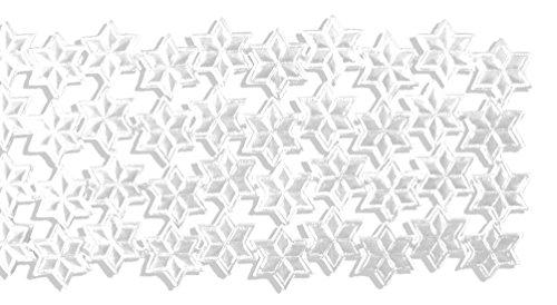 Kunze Dresden Trim Border Stars Strips, 3/4-Inch, White