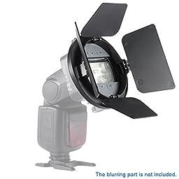 Andoer Four-leaf Universal Mount Barndoor Flash Light Photography Accessory for Nikon Canon Yongnuo Speedlight