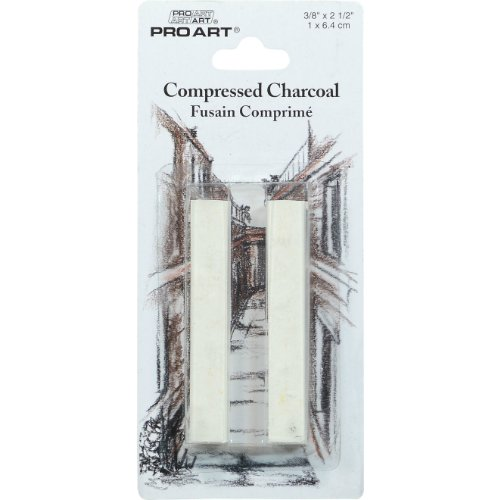 Pro Art Compressed Charcoal 2 Per Card, White