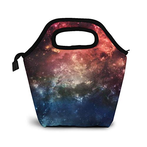 Daizideaidai Sloth Wearing Sunglasses in The Galaxy Lunch Bag Tote Bag Lunch Organizer Lunch Holder Lunch Container for Adults Kids Nurse Teacher Work Outdoor Travel ()