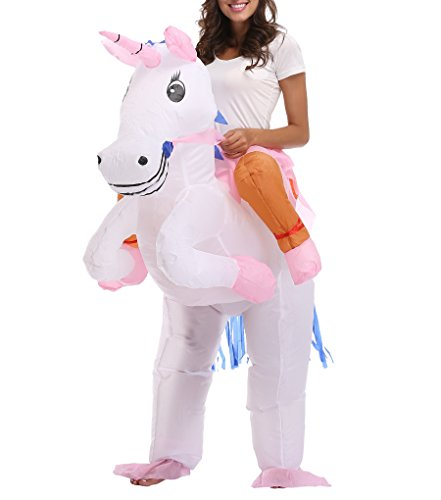 Adults Unicorn Costume Carry Me Unicorn Fanny Dress Up Halloween Cosplay Suit
