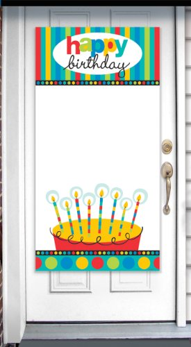 Amscan International Dots And Stripes Personalised Door Banner -