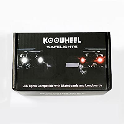 KooWheel Safe Lights Headlights and Taillights - USB Rechargable - Water Resistant - Electric Skateboards Longboards by KooWheel