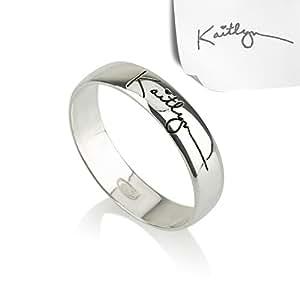 Signature Ring- Handwriting Ring, Silver Ring, Word Ring, Initial Ring, Name Ring