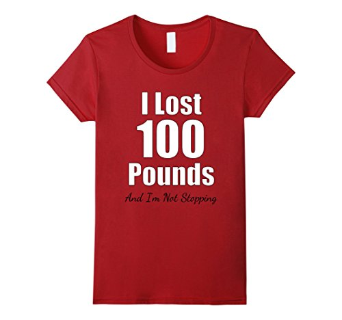 Women's I Lost 100 Pounds TShirt - Weight Loss Journey La...