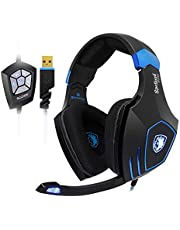 [UPGRADED VERSION]SADES Professional PC Gaming Headset -SPELLOND PRO- with Bass Vibration, Audio Power by BONGIOVI Acoustics DPS Technology Headphone with Noise-Cancelling Mic, Compatible with Windows