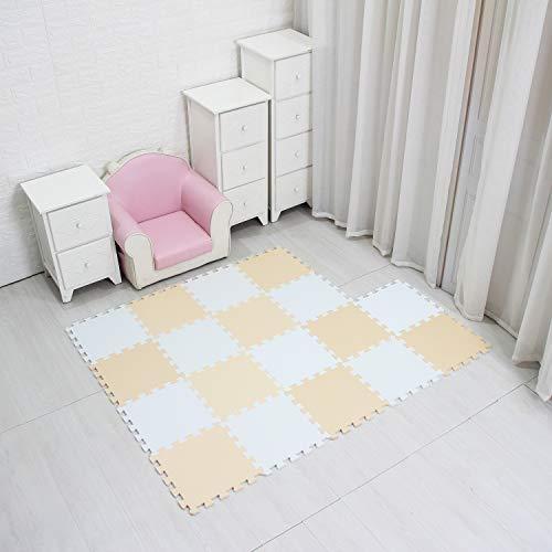 MQIAOHAM skip hop play mat jigsaw soft mats interlocking floor baby puzzle eva foam outdoor equipment square puzzles board portable foldable crawling childrens rug babies white orange blue 101102107