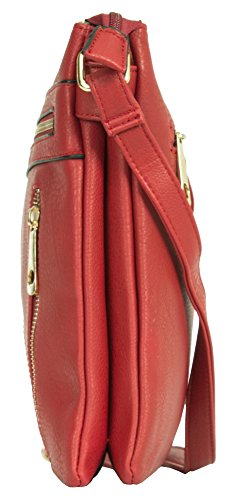 Big Medium 2 3 Cross Shoulder Compartment Bag Messenger Red Shop Body Handbag Design Size Womens vrCHxwvtgq