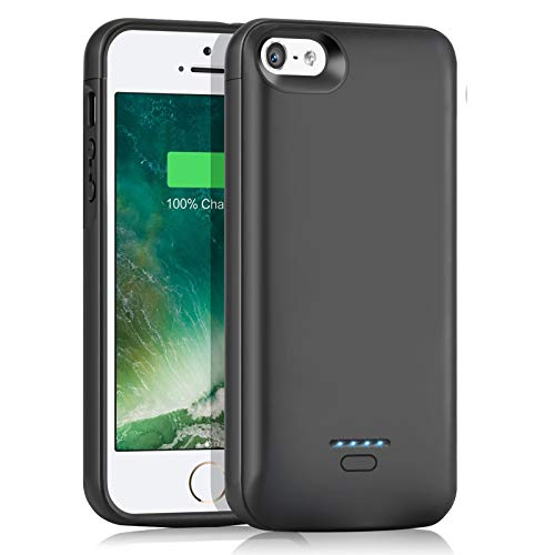 AEDLYK Battery Case for iPhone 5 5S SE 4000mAh Slim