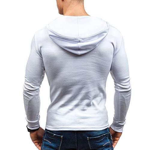 T Unie Homme Timemeans Shirt shirt Chemisier Manches Couleur Hommes Blanc6 Longues Tee qwq6UCxE5