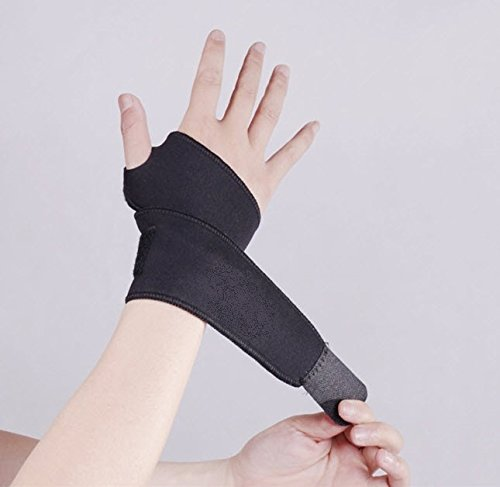 [Soft Carpal Tunnel Wrist Brace Splint for Carpal Tunnel Syndrome Treatment - BONUS Information Guide Full of Carpal Tunnel Stretches and Exercises for Carpal Tunnel] (Bandit Buckle Black Boots)