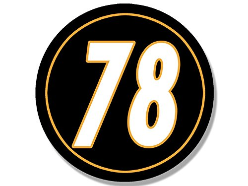 Round #78 Alejandro Villanueva Sticker (steelers number bumper nfl) by American Vinyl