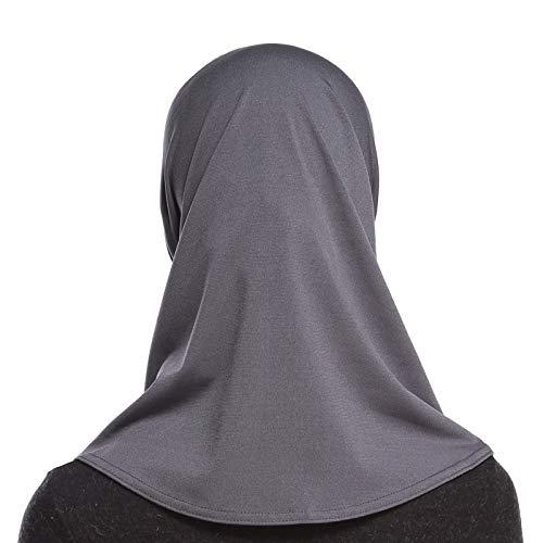 4Pcs Islamic Turban Head Wear Hat Underscarf Hijab Full Cover Muslim Cotton Hijab Cap in 4 Colors (D) by HANYIMIDOO (Image #7)