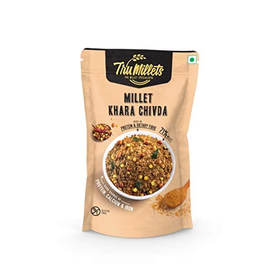 Trumillets | Healthy Millet Snack | Namkeen| Khara Chivda/Mixture 125g Each (Pack of 2)