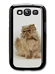 AMAF ? Accessories Grumpy Cute Cat With Glass Mark Funny case for Samsung Galaxy S3