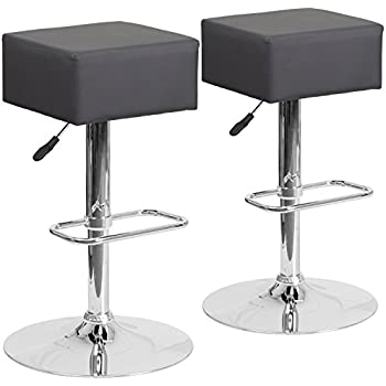 Amazon Com Tov Furniture Bari Stainless Steel Adjustable