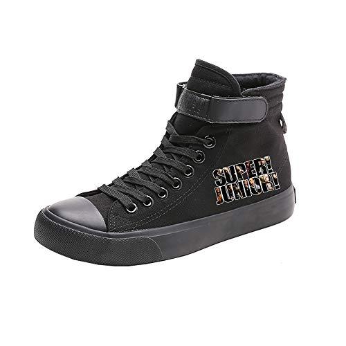 Transpirables Black04 Spring Lazada Ayuda Ocasionales Caballero Lona De Alta Zapatos Bts gvRx00