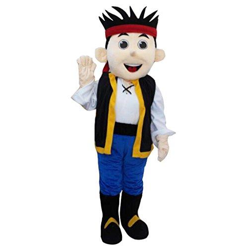 CosplayDiy Unisex Jake and the Neverland Pirates Jake Mascot Costume 188-191 - Cubby Costume From Jake And The Neverland Pirates