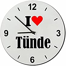 "Exclusive Gift Ideas: Glass Watch ""I Love Tünde"" a Great gift that comes from the Heart- Watch- Ø20 cm- Christmas Gift"