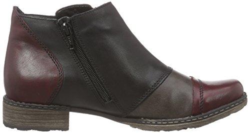 Remonte D4377 Damen Chelsea Boots Mehrfarbig (chianti/graphit/schwarz / 35)