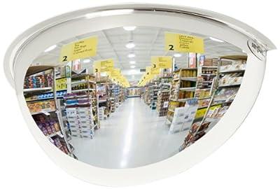 See All Panaramic Half Dome Plexiglas Security Mirror, 180 Degree Viewing Angle