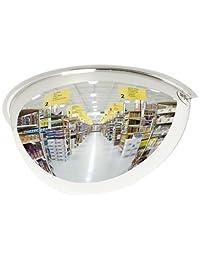 Espejo de seguridad panorámico de SeeAll, de media cúpula, de plexiglás, ángulo de visión de 180 grados, 36 pulgadas, 1