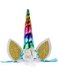 Unicorn Headband Unicorn Birthday Rose Flower Headband...
