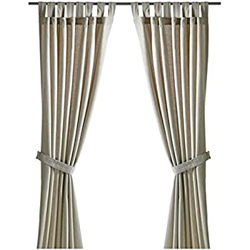 Image Result For Lenda Curtains With Tie Backs X Ikea