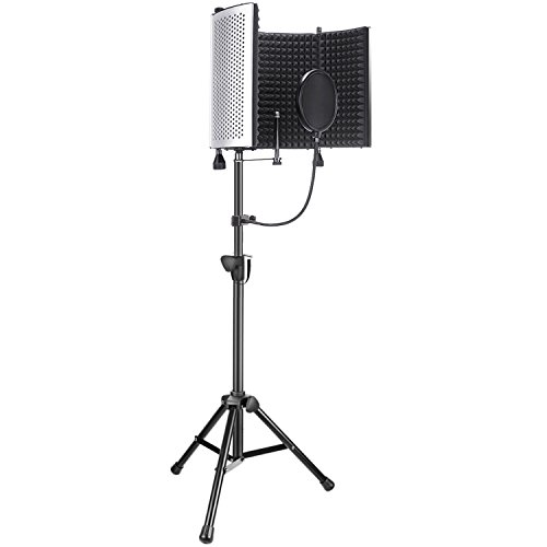 Screen Filter Kit - Neewer Professional Microphone Studio Recording Accessories Include: NW-5 Microphone Isolation Panel, Adjustable Wind Screen Bracket Stand and Pop Filter for Vocal Acoustic Recording and Podcasting