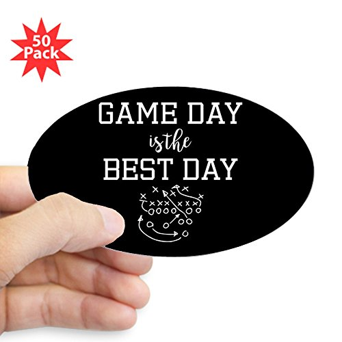 CafePress - Game Day Is The Best Day - Sticker (Oval 50 pk) by CafePress