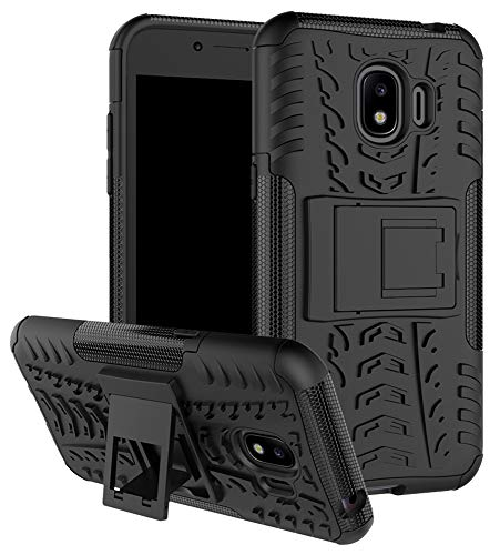Samsung Galaxy J2 Pro Case SunRemex Durable Armor with Full Body and Heavy Duty Protection and Kickstand Design for Samsung Galaxy J2 Pro(2018) (Black)