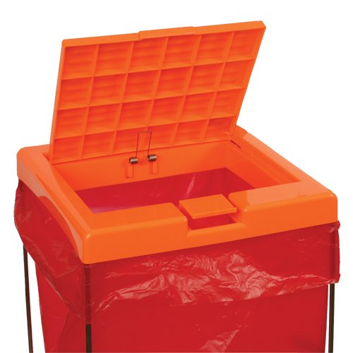 Bel-Art Clavies Orange Biohazard Bag Holder Cover for F13192-0002 and F13192-0003 (F13192-0102)