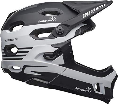 Bell Super DH MIPS Adult MTB Bike Helmet (Fasthouse Stripes Matte Black/White (2019), Medium) (Matte Stripe)
