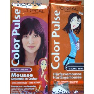 l oreal color pulse peps violine mousse sans amoniaque sans oxidant concentre en couleur - Coloration Cheveux Sans Ammoniaque Et Sans Oxydant