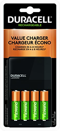 Duracell Battery Charger 1000 With 4 AA - 6-8 hrs