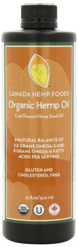 ertified Organic Hemp Oil-Super Omega 6-Super Omega 3-Non GMO-Gluten Free-THC Free-17 Fluid Ounces ()