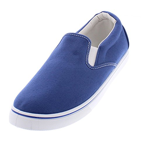 Gold Toe Goldtoe Männer Doug Memory Foam Canvas Schuhe Casual Slip On Sneakers Spitzenlose Loafer Skate Deck plimsolls Mittelblau