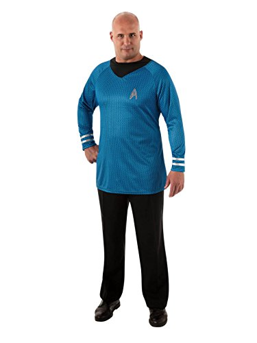 Rubie's Plus-Size Star Trek Into Darkness Deluxe Spock Shirt with Emblem, Blue/Black, Plus Costume -